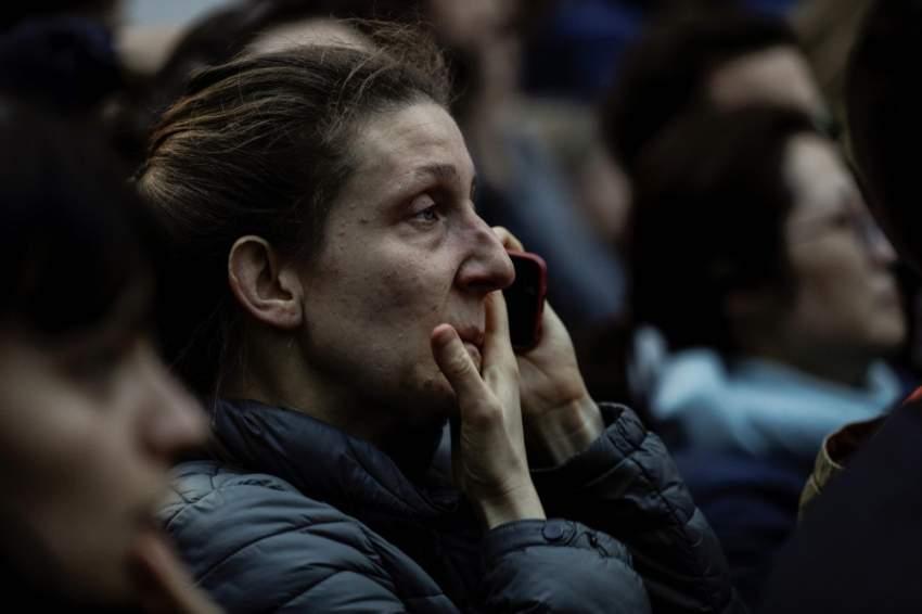 مشاعر حزن وألم على حريق الكاتدرائية