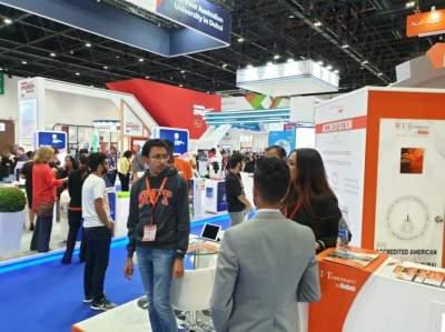 جانب من فعاليات معرض جيتكس في دبي. (الرؤية)