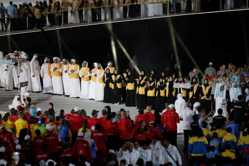 لقطات من حفل ختام الأولمبياد الخاص في أبوظبي. (تصوير: محمد بدر الدين)
