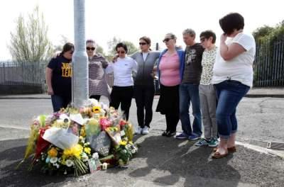 تضامن أيرلندي شمالي مع الصحافية لايرا ماكي. (أ ف ب)