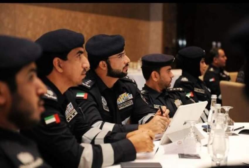 جانب من ورش عمل نظمتها شرطة أبوظبي لاستشراف مستقبل العمليات الشرطية.  (الرؤية)