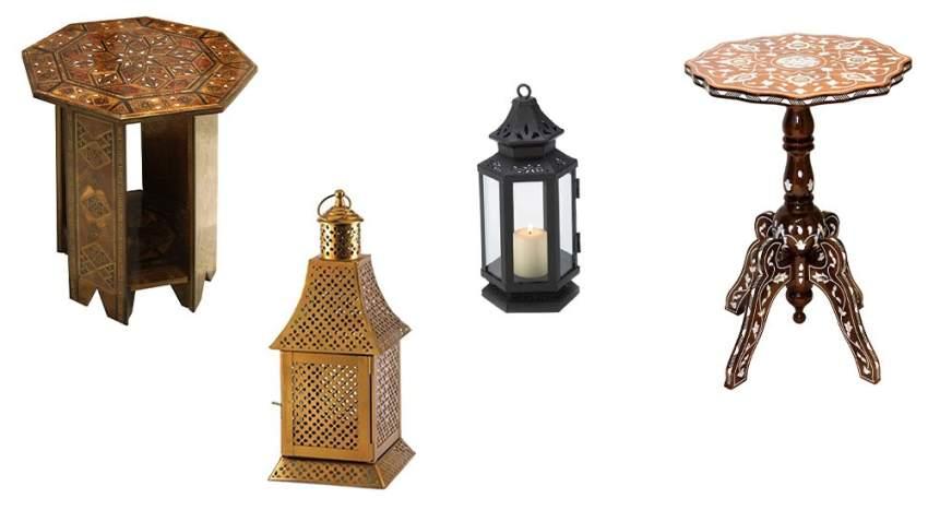 الطاولات الخشبية الشرقية مثالية لديكورات شهر رمضان