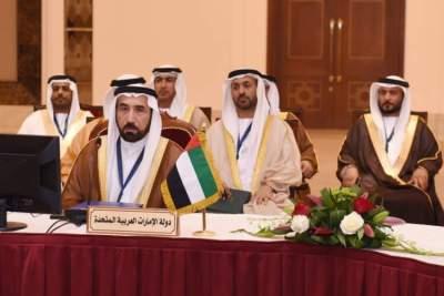 وفد الإمارات خلال اجتماع وكلاء وزارات الداخلية في دول مجلس التعاون. (الرؤية)
