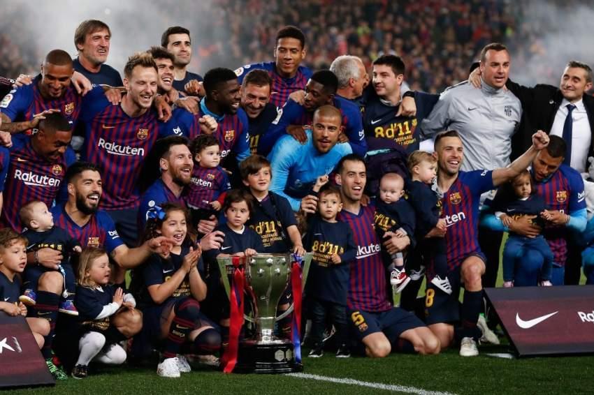 برشلونة يحرز لقب الدوري الإسباني بفوزه على ليفانتي