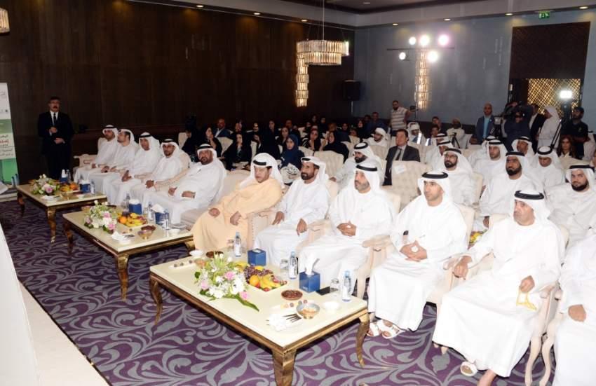 جانب من حفل إشهار جمعية الإمارات للتسامح والسعادة في مدينة العين. (الرؤية)