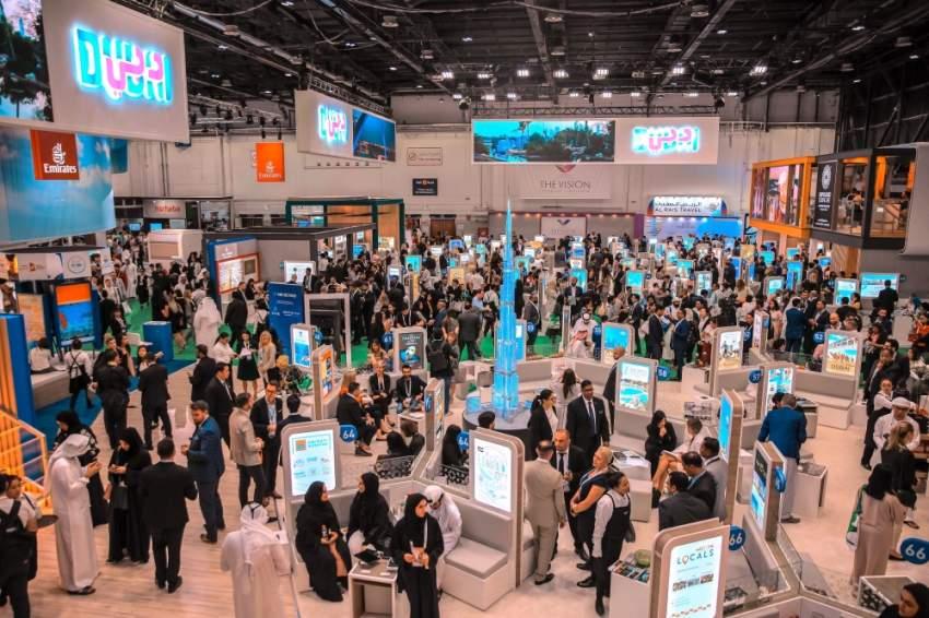 خلال فعاليات معرض سوق السفر العربي. (الرؤية)