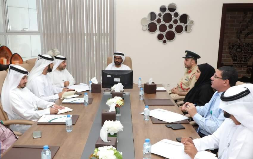 خلال المؤتمر الصحفي لإطلاق جائزة شرطة دبي الدولية لأفضل مراكز الاتصال. (الرؤية)