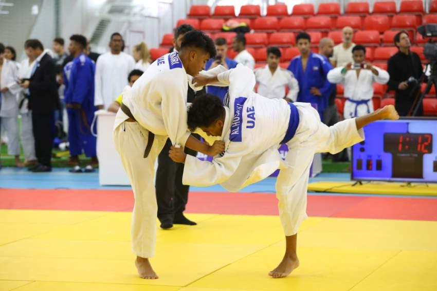 من منافسات الجودو ضمن بطولة زايد الرياضية. (تصوير: محمد بدر الدين)