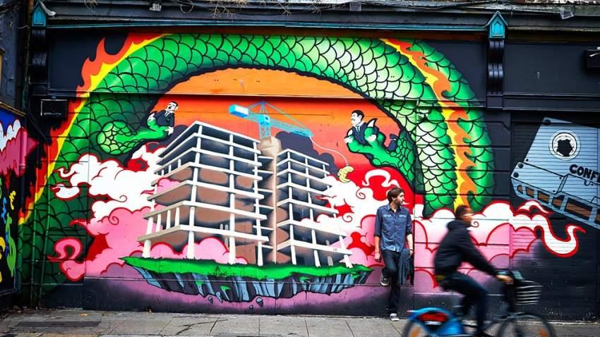 شوارع دبلن المزينة بالرسومات