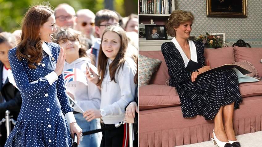 كيت ميدلتون تعيد إحياء اطلالة الأميرة ديانا