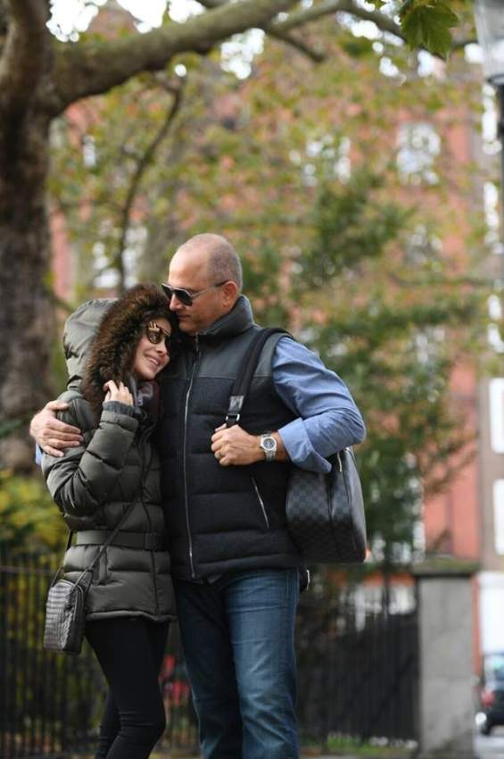 لقطة رومانسية لنانسي عجرم مع زوجها فادي
