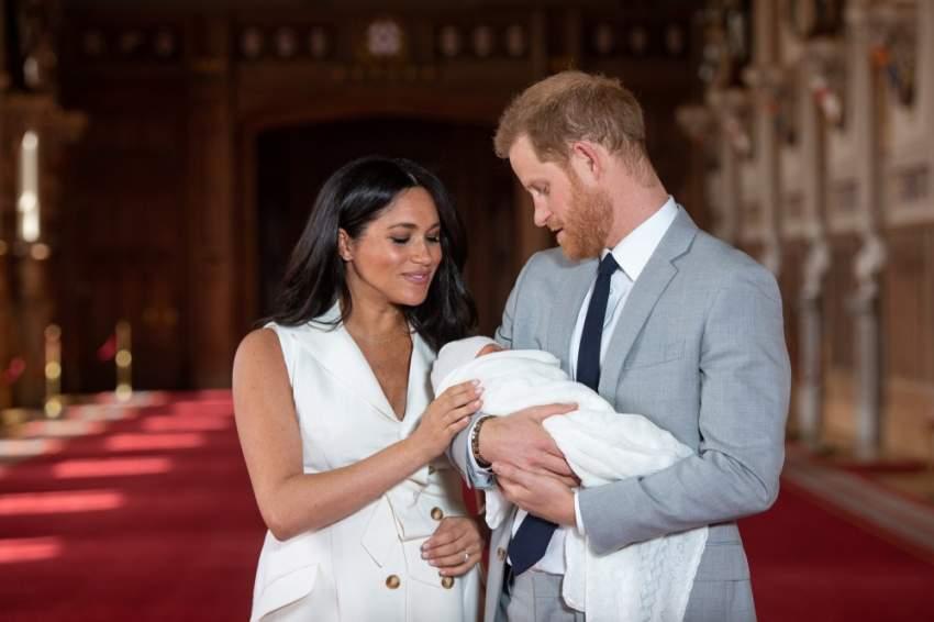 استقبل الزوجان طفلهما الأول «أرتشي» قبل بضعة أيام