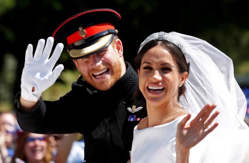 الأمير هاري وميغان ماركل خلال الزفاف الملكي