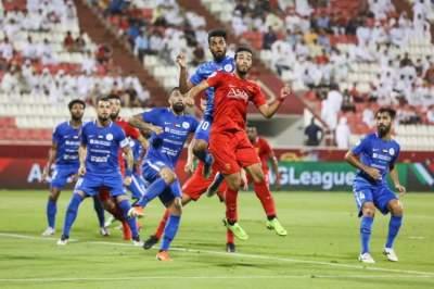 من مباراة الفجيرة والنصر في الدوري. (الرؤية)