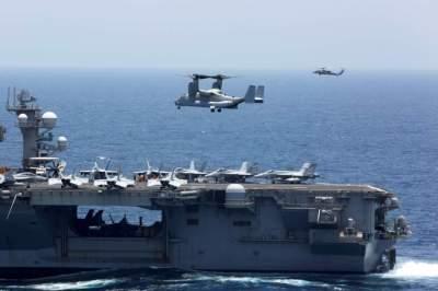 حشود عسكرية أمريكية في المنطقة لردع إيران. (رويترز)