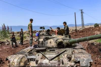 جنود الحكومة السورية في محافظة حماة. (أ ف ب)