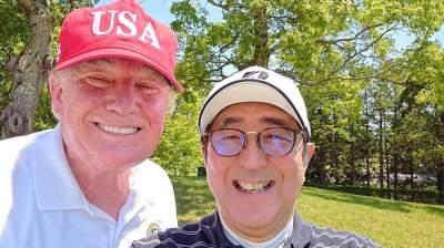 سيلفي يجمع ترامب بامبراطور اليابان