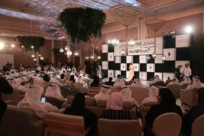 جانب من جلسة منتدى الإعلام الإماراتي في دبي أمس الأول. (تصوير: محمد بدرالدين)