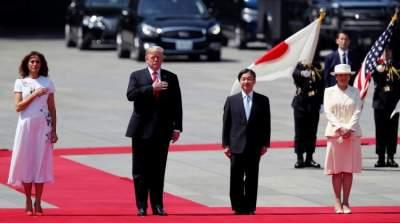 إمبراطور اليابان الجديد ناروهيتو يستقبل دونالد ترامب
