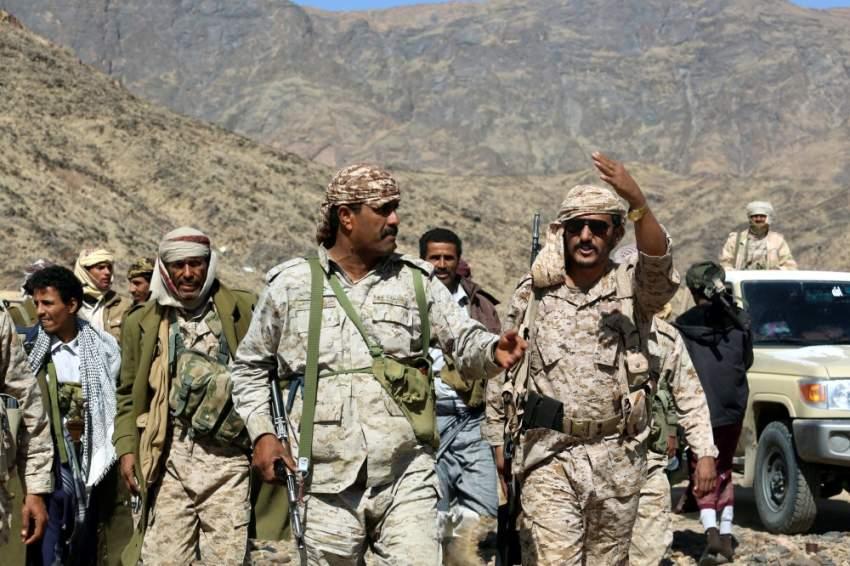 عناصر من قوات الجيش الوطني اليمني شرقي صنعاء. (إي بي إيه)