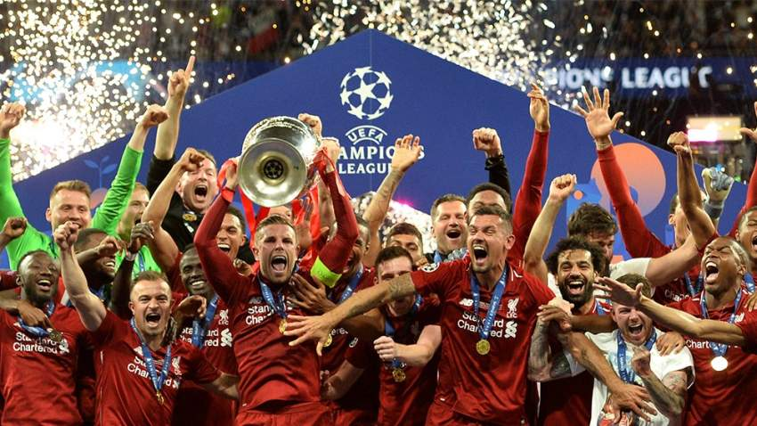 توج ليفربول الإنجليزي أمس السبت بلقبه السادس في بطولة دوري أبطال أوروبا لكرة القدم