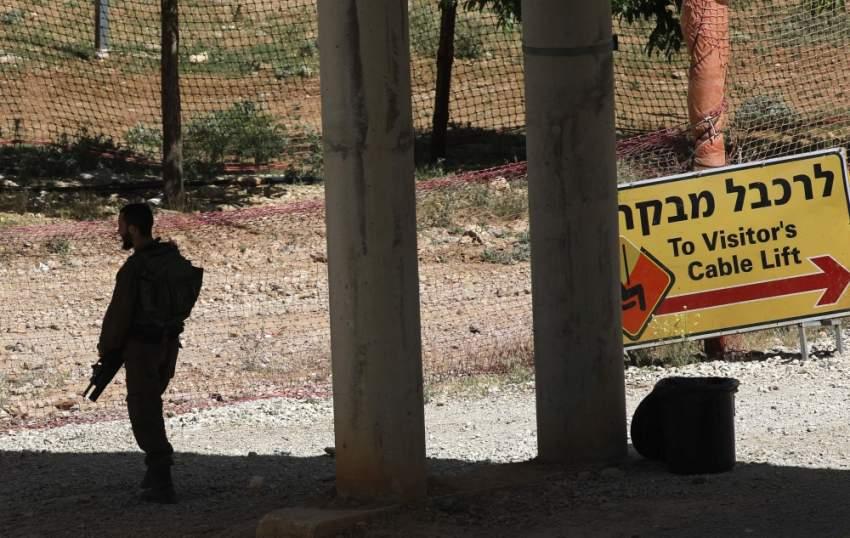 جندي إسرائيلي في مرتفعات الجولان السوري المحتل. (أ ف ب)
