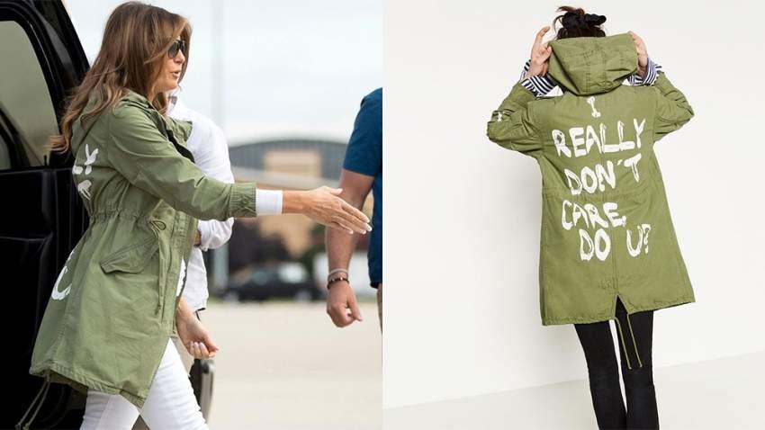 معطف ميلانيا ترامب المثير للجدل