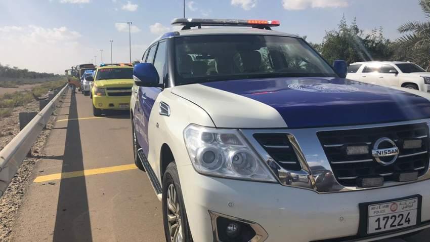 شرطة أبوظبي تناشد السائقين ضرورة الانتباه إلى حركة المشاة في مختلف الطرق خلال العيد