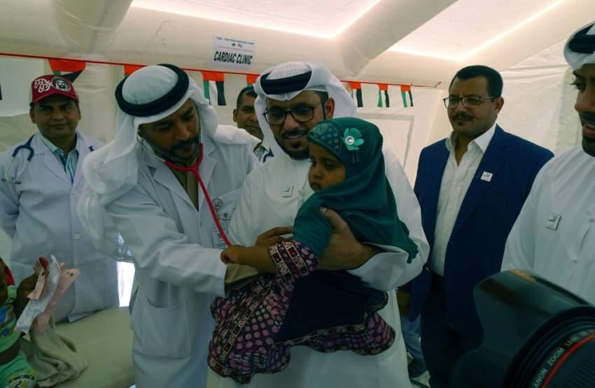 خلال انطلاق حملة أطباء الإمارات الإنسانية في منطقة كاثور الباكستانية. (وام)