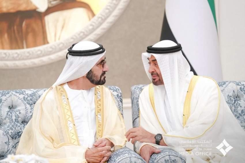 محمد بن راشد ومحمد بن زايد يستقبلان حكام الإمارات بمناسبة عيد الفطر