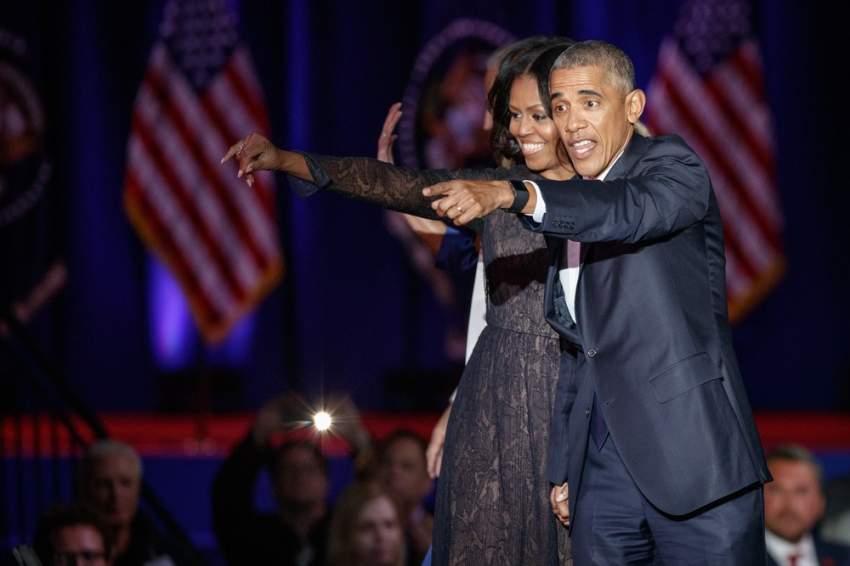 باراك أوباما وزوجته ميشيل