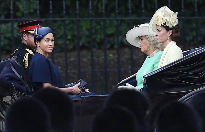 تنقلت في عربة مكشوفة مع الأميرهاري و كاميلا و كايت ميدلتون في وسط لندن