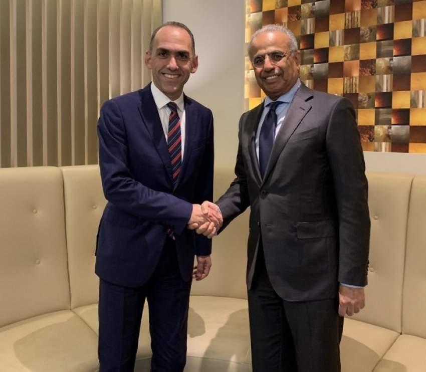 الطاير خلال لقائه مع وزير مالية جمهورية قبرص. (الرؤية)