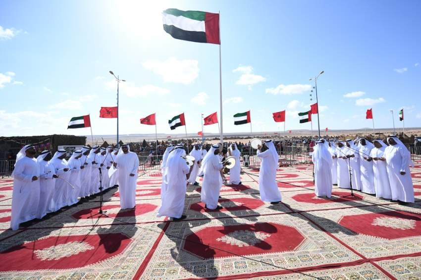 الجناح الإماراتي يعكس صوراً حية للتراث والثقافة. (الرؤية)
