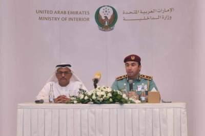 الريسي والسويدي أثناء المؤتمر الصحافي في أبوظبي. (الرؤية)