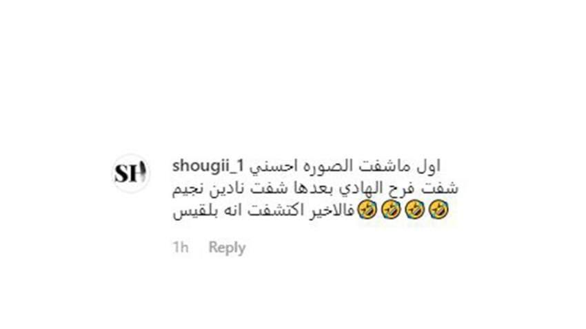 تعليق آخر لأحد متابعين النجمة بلقيس فتحي عبر حسابها على الانستغرام
