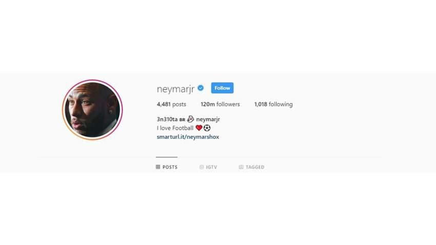 نيمار يحظى بـ 120 مليون متابع على الانستغرام