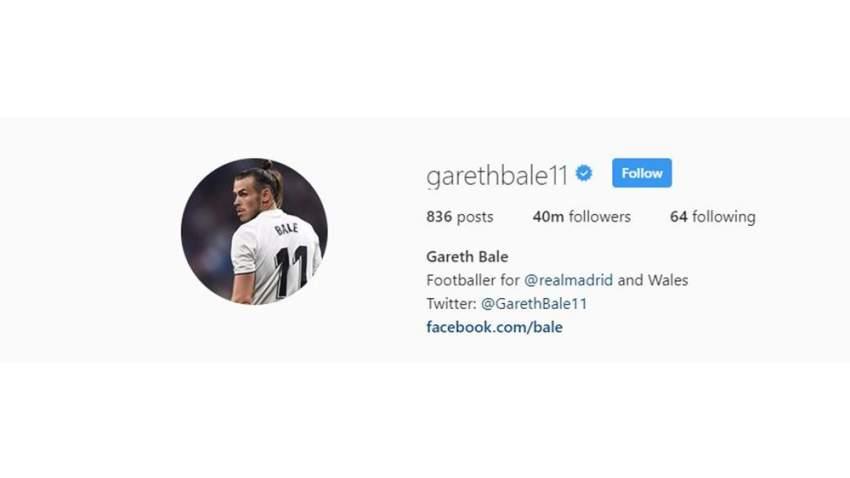 غاريث بيل يحظى بمتابعة 40 مليون متابع فقط على الانستغرام