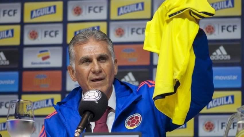 مدرب كولومبيا كارلوس كيروش (أ ف ب)