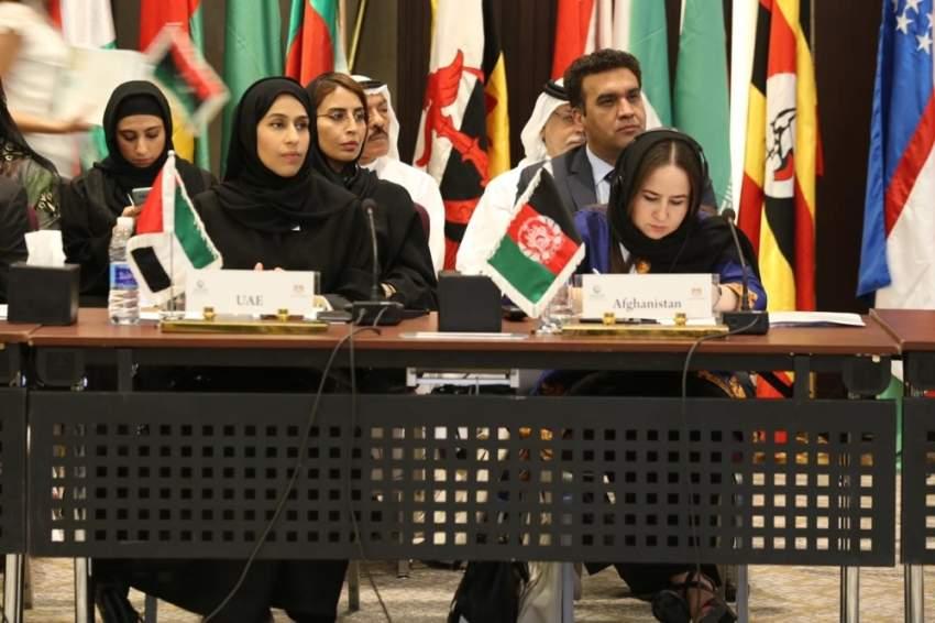 حصة بوحميد خلال الاجتماع الوزاري حول تمكين المرأة في منظمة التعاون الإسلامي بالقاهرة. (الرؤية)