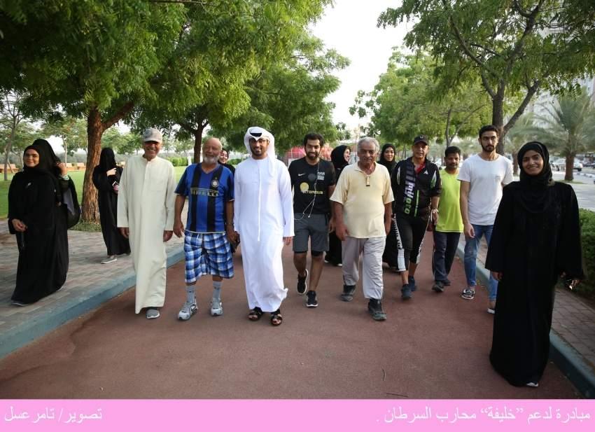 المشاركون في حملة دعم خليفة محارب السرطان في رأس الخيمة