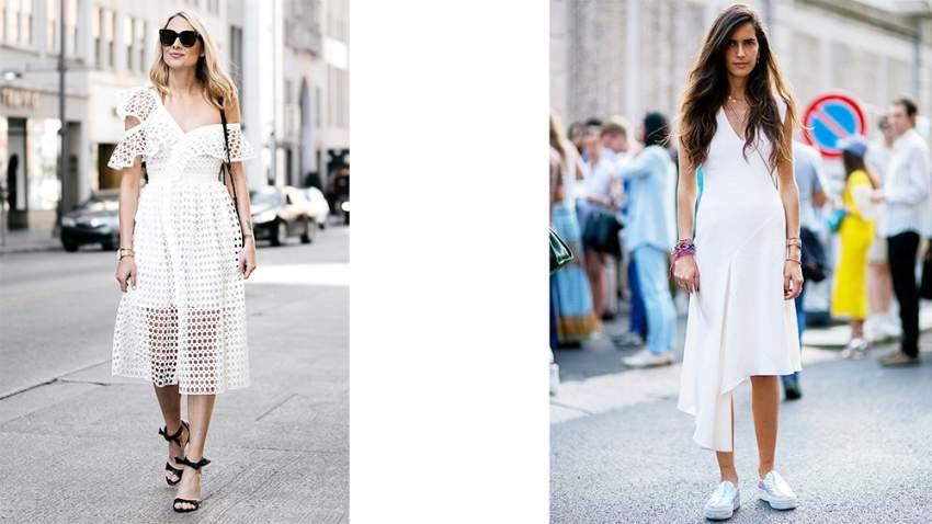 تصاميم مختلفة لفساتين بيضاء ملائمة لفصل الصيف