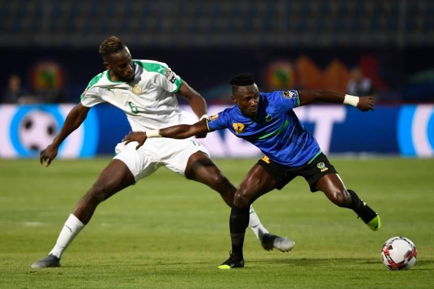 ساليف سانيه خلال مباراة السنغال وتنزانيا. (أ ف ب)