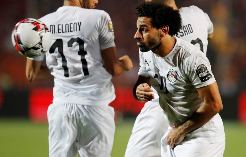 محمد صلاح خلال مباراة مصر ويوغندا. ( رويترز)
