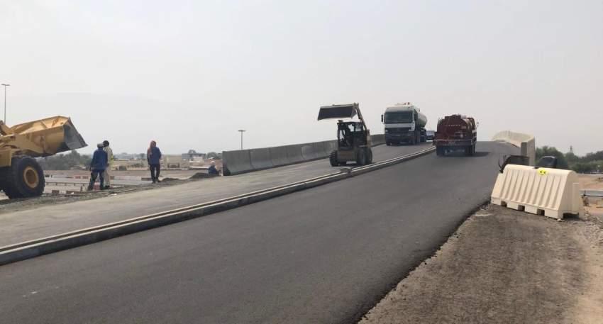 البنية التحتية تشغّل جسر الفحلين برأس الخيمة استجابة لأهالي المنطقة