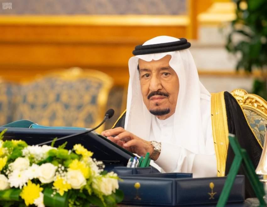 خادم الحرمين الشريفين مترئساً اجتماع مجلس الوزراء في جدة. (واس)