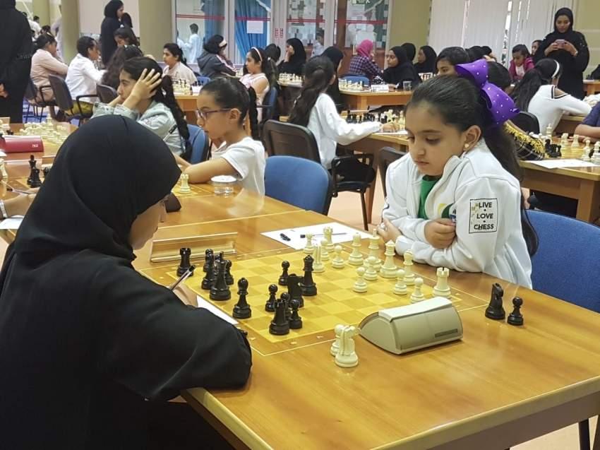 من منافسات بطولة الإمارات للشطرنج.(الرؤية)