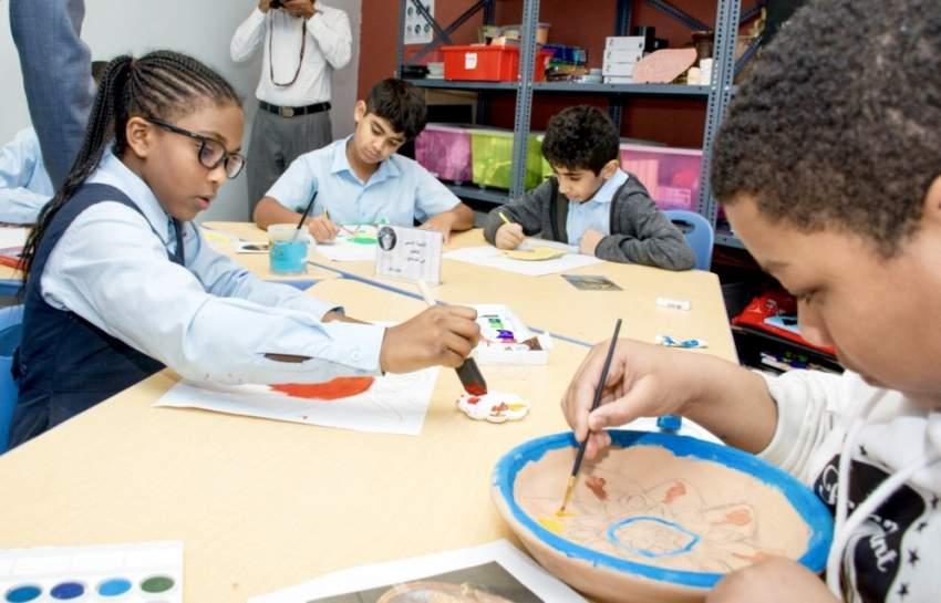 72 عملاً فنياً للأطفال تدهش رواد «لوفر مبارك» بأبوظبي