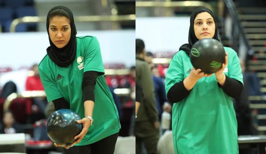 مشاعل العبدالواحد لاعبة من المتأهلات للمشاركة في كاس العالم.