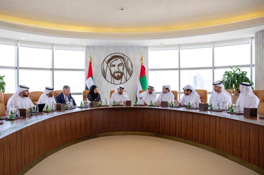 جانب من اجتماع مجلس دبي لمستقبل العمل الإنساني. (الرؤية)